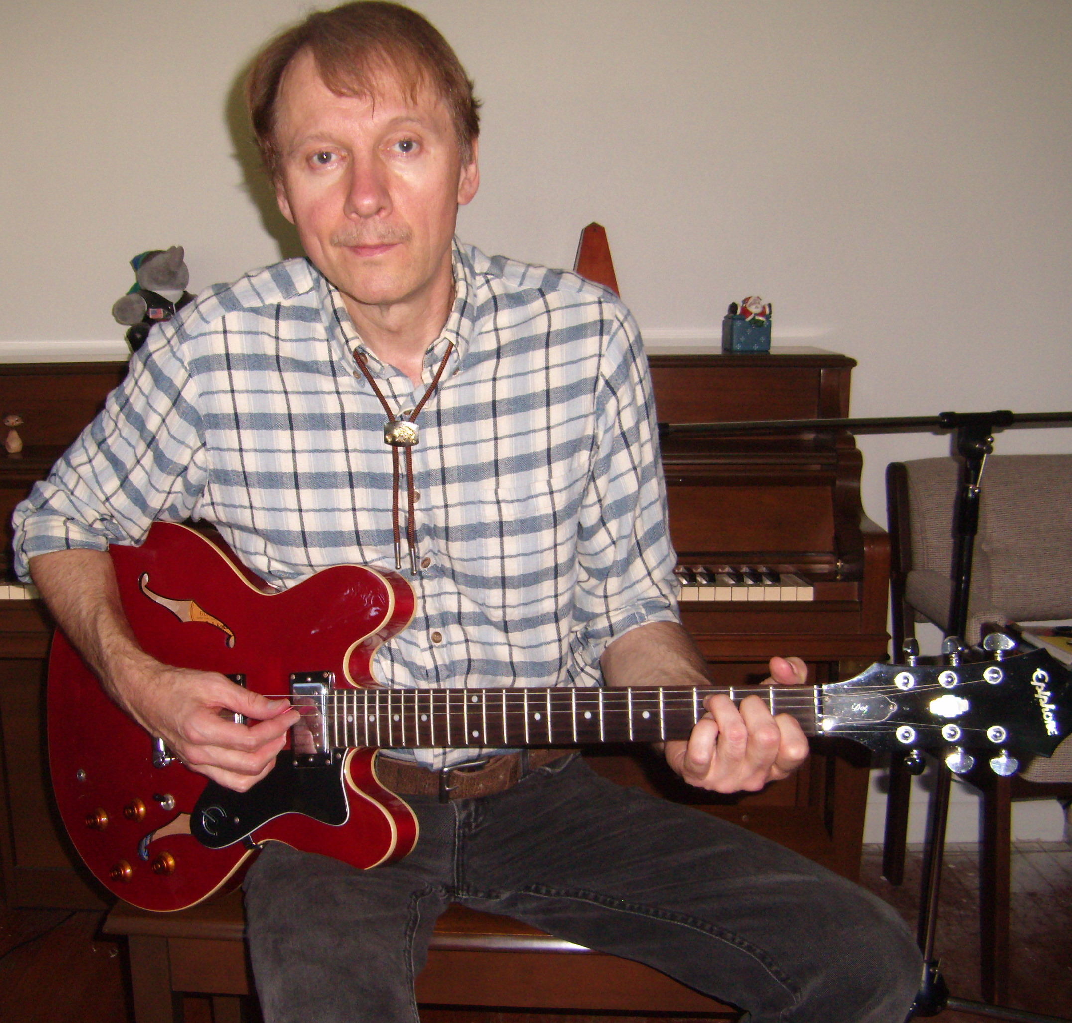 Rick at work in his home studio